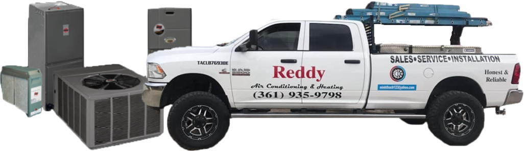 Reddy Air Service Truck and Ruud Products in Palacios